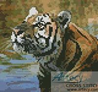 Mini Bengal Tiger Cross Stitch Pattern http://www.artecyshop.com/index.php?main_page=product_info&cPath=11_12&products_id=81