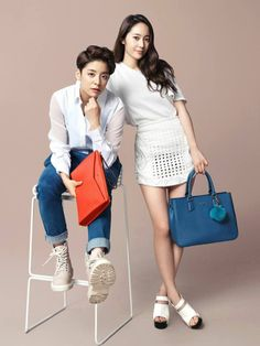 f(x)'s Krystal and Amber for Lovcat #kpop