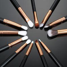 12 teile/los Pro Make-Up Pinsel Set Stiftung Pulver Lidschatten Eyeliner Lippenpinsel Werkzeuge Lidschatten Pinsel Set Textmarker Pinsel