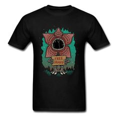 Stranger Things Dungeons And Dragons T-Shirts Demogorgon Free Hugs Mens Price of Demons Tshirts High Quality Cotton Clothes Mens Tee Shirts, T Shirt, Free Hugs, Black And Navy, Stranger Things, Printed Shirts, Funny Tshirts, Dragons, Mens Tops