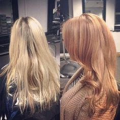 blonde to strawberry blonde transformation