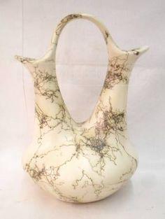Horsehair Raku Pottery Wedding Vase