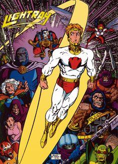 New Gods: Lightray by Arthur Adams Marvel Comics, Dc Comics Heroes, Dc Comics Art, Comic Book Artists, Comic Artist, Comic Books Art, Book Cover Art, Comic Book Covers, Justice League