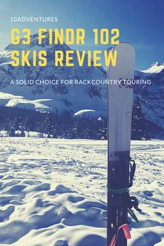 """""""Wow"""" I said after my first descent on the new FINDr 102 skis. These skis are light, nimble and responsive, making them an excellent all-around skis. Best Skis, Cross Country Skiing, Canadian Rockies, Way Down, In The Tree, Banff, Winter Sports, The Fresh, Wilderness"""