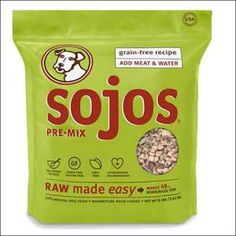 Sojos Complete Raw Natural Dry Dog Food Mix #dogfood #rawdogfood #doglover #petlover #healthydogfood #hypoallergenicdogfood