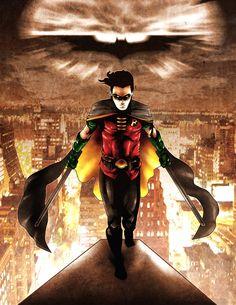 "Tim Drake ""Robin"" by by Ian Sta. Nightwing, Batgirl, Catwoman, Marvel Dc Comics, Dc Comics Art, Marvel Vs, Comic Book Characters, Comic Book Heroes, Comic Character"