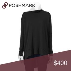 Drop shoulder turtleneck black Product Details You'll love the stylish sophistication of this Ransom turtleneck.  PRODUCT FEATURES Long sleeves Drop-shoulder design Vented high-low hem Stretchy construction Back seam FABRIC & CARE Polyester, rayon, spandex Machine wash Tops