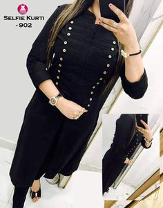 Latest Black Color Designer Long Kurti.