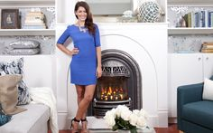 Jillian Harris of Love It Or List It next to a Valor Portrait Windsor Arch Valor Fireplaces, Jillian Harris, Love Home, Fireplace Design, Color Of The Year, Pantone Color, Home Renovation, Old Houses, Home Buying