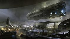 In closing, I will leave you with this image from Sparth – an early exploration of a new location that features prominently in a little game project we're tinkering with…./Josh more on Halo Waypoint: here