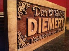 9w x 22h Personalized Wood Last Name Family Sign 3D Carved Personalized Anniversay Gift  Kids Name Signs Welcome Wood Wall Art Wood Gifts