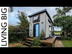 Located in beautiful Byron Bay, Australia, this wonderful tiny home on wheels absolutely has it all. It's open, spacious and light while being filled with some truly wonderful spatial design features which makes it the perfect home for it's owners Kester and Nadia. Aptly named the Zen Tiny House, the home's design has largely been inspired by a mixture of both Japanese and Scandinavian influence which is evident from the simple yet striking exterior (including the typical Scandinavian sky…
