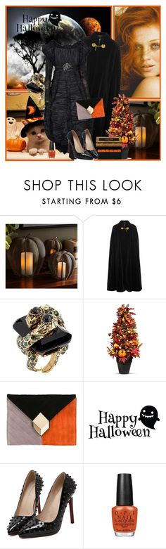 """""""Happy Halloween Birthday KittyFantastica!"""" by manicurelover ❤ liked on Polyvore featuring BP., Pottery Barn, Yves Saint Laurent, Roberto Cavalli, Chanel, Improvements, Pierre Hardy, Ladurée and WithChic"""