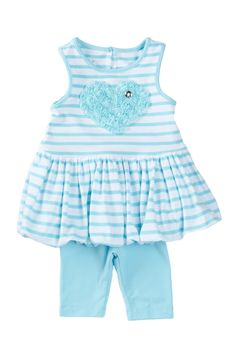 Bubble Dress & Capri 2-Piece Set (Baby Girls) by Pippa & Julie on @nordstrom_rack