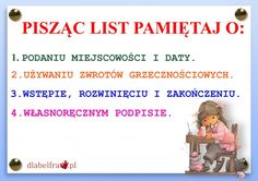 FORMY WYPOWIEDZI PISEMNEJ4 Polish Language, Gernal Knowledge, New Class, Girls World, Study Motivation, Back To School, Homeschool, Classroom, Science