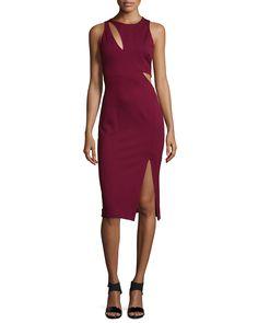 Sleeveless Ponte Curve Splice Dress, Women's, Size: 2