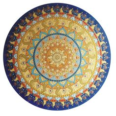 sárga-kék Napmandala / yellow-blue Sunmandala
