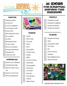 50 Summer Photo Ideas for your Project Life | A checklist from scrapinspired.com