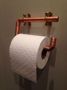 Copper Pipe Toilet Roll Holder, Industrial Design | eBay
