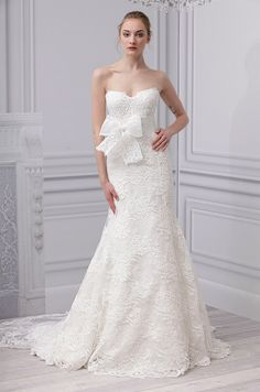 A #wedding dress from Monique Lhuillier, Spring 2013