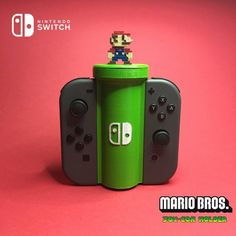 Download 3d printed Nintendo Switch Joy-Con Holder with Storage Room  accessory by fotis mint