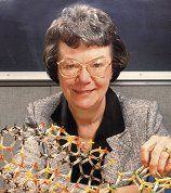 Edith Marie Flanigen is an American chemist, known for her work on synthesis of emeralds, and later zeolites for molecular sieves at Union Carbide. She was the first female recipient of the Perkin Medal in 1992.