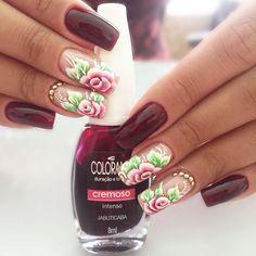 Nenhuma descrição de foto disponível. Fun Nails, Pretty Nails, Nail Art Pictures, Nails First, Fall Nail Colors, So Creative, Flower Nails, Pedicure, Nail Art Designs