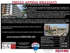 Prezzo Appena Ribassato Bari, Via Guido Dorso Ampio Appartamento Pentavani con posto auto www.remax.it/20031050-624 info 348 7340665