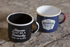 Enamel camp mugs for proud kick-ass Kentuckians!