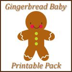 Free Gingerbread Baby Learning Printables