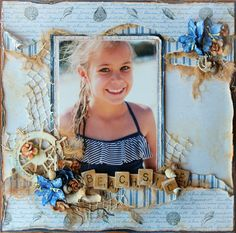 "Tina Marie - Forever and Always: ""Beachside"". Fabscraps Collection C72 ""Beach Affair"