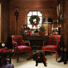 A Merry Christmas repost of our tack room from stylist Bonnie Broten's IG today! @bkbroten #thankyou #repost #wernerstraube #wernerstraubephotography #chicago #stylist #blacklab #Cada #tackroom #plaid #tartan #holidaydecor #equestriandecor #cedar #meredithpublishing #christmas #polohouse #polohousestyle