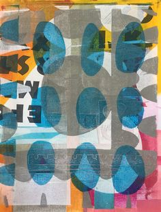 Jennifer Love, Gel Printing and collage.