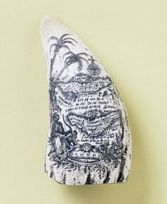 map on a whale tooth, ca. 1820