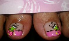 Nails Pedicure Nail Art, Toe Nail Art, Nail Art Diy, Toe Nails, Animal Nail Designs, Toe Nail Designs, Nail Polish Designs, Cute Pedicures, Baby Nails