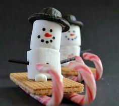 Snowman sleds