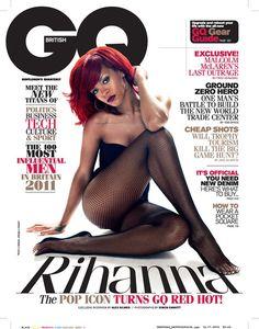 Rihanna on GQ, magazine cover, magazine, cover shot, photography,
