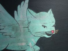 aqua flying cat