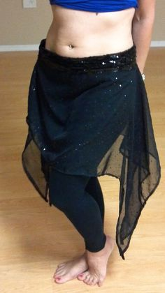 Belly Dance or Yoga Overskirt Small to Plus Sizes by Oohlalaagain, $28.00