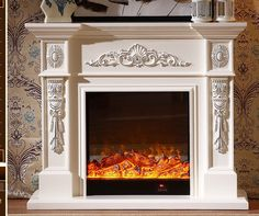 Cheap fireplace mantel, Buy Quality wood fireplace mantel directly from China fireplace inserts Suppliers: living room decorating warming fireplace wooden fireplace mantel plus electric fireplace insert LED artificial flame Faux Fireplace Mantels, Wooden Fireplace, Stove Fireplace, Marble Fireplaces, Fireplace Inserts, Fireplace Surrounds, Home Entrance Decor, House Entrance, Painted Mantle