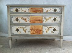 Custom Made Vintage Classic Chest by Pieces Hand Painted Furniture