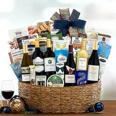 Wine Gift Baskets - Corporate Wine Basket Wine Gift Baskets, California Wine, Wine Gifts, Corporate Gifts, Taste Buds, Wines, Treats, Make It Yourself, How To Make