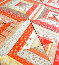 Pattern: Four Square with Flair. Quilt as you go. Add this to the list...