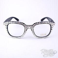 bling Frames Prescription Glasses | Swarovski Crystal Geek glasses.