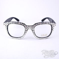 bling frames prescription glasses swarovski crystal geek glasses