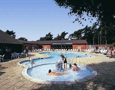 Free outdoor pool with an integral paddling pool for toddlers.