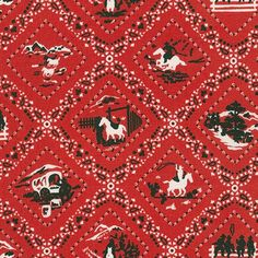 Ride 'Em Cowboy 2 (Red) by Robert Kaufman Fabrics Online Craft Store, Craft Stores, Conversational Prints, Robert Kaufman, Cowboy And Cowgirl, Joann Fabrics, Red Fabric, Fabric Crafts, Ems