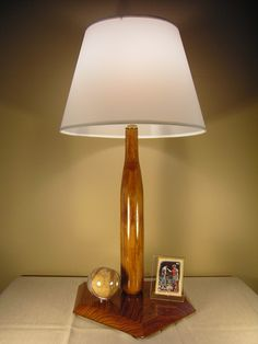 hand crafted wood baseball bat lamp by BigDdesigns on Etsy, $39.95