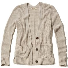 Hollister Textured Boyfriend Cardigan ($35) ❤ liked on Polyvore featuring tops, cardigans, hollister, oatmeal, brown cardigan, slit top, textured cardigan, layered tops and brown knit cardigan