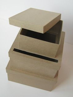 DIY Wedding Card Box Unfinished 3  tier card Box by LCDDeStash, $15.99